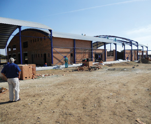 Construction phase of the new MTSC in Polokwane.