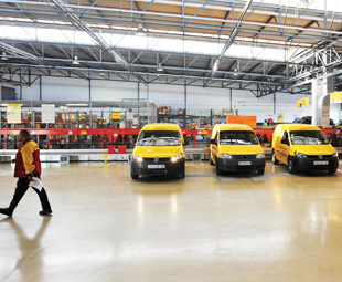 The gateway facility enables DHL's couriers to spend more time on the road.