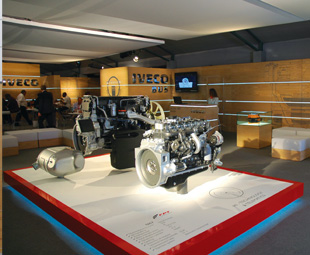 In addition to product highlights, Iveco's stand also featured FPT Industrial Cursor and Tector engine technology.