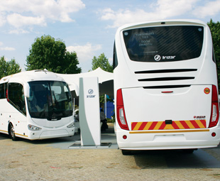 Irizar's i6 attracted attention to the company's stand.