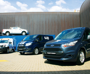 Ford displayed its Transit and Ranger models tailored to various applications.