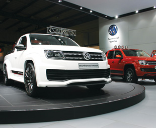 The Wörthersee (left) and Edition versions of the VW Amarok drew crouds to the brand's commercial vehicles stand.