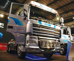 DAF celebrated a 120-truck order from Reinhardt Transport.