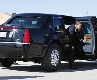 Obama's transport to Madiba's memorial service