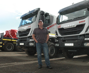 Lee Jones, MBS CEO, trades his trucks in after four years of extremely hard work.