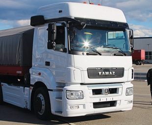 Russian truckmaker Kamaz has launched its new M1842 range with cab and driveline input from Mercedes-Benz.