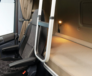 The beds in the Scania sleeper cabs offer the best possible conditions for a good night's rest.