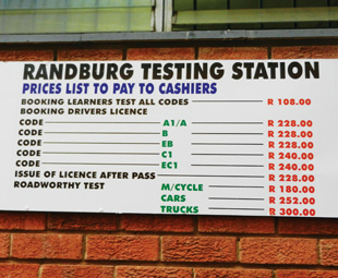It's clear that proper use of the English language is not high on the list of priorities at the testing centres. Neither, it appears, is efficiency ...