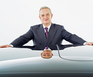 Prof Dr Martin Winterkorn, chairman of the board of management of Volkswagen AG, wants to challenge Daimler within the truck market.