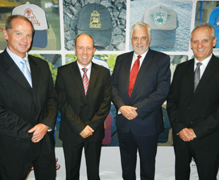 Pictured from left to right are Pieter Klerck, Casper Kruger, Calvyn Hamman and Ernest Trautmann