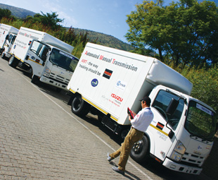 At play at Gerotek: the Isuzu Truck drivers confidently attacked the simulation course.