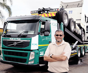 Shabir Mansoor, owner of KDG Logistics, believes that the trailer will improve vehicle delivery and road safety standards in South Africa.