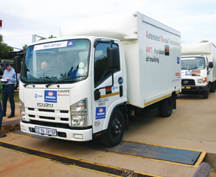 The Gerotek weighbridge allowed the vehicle weights to be re-confirmed.