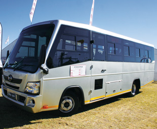 The 300-Series Bus was unusual at Nampo, but Hino believes there is a market for it within the agricultural industry.