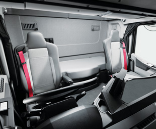 The T range's cabins are neat and functional, offering a range of gadgets to ease a long drive.
