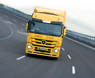 The Mercedes-Benz Safety Truck is a development test bed for systems such as Active Brake Assist.