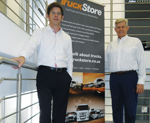 Oliver Marte, general manager TruckStore SA (left), and Roy van der Walt, manager sales and operations at TruckStore, are looking to grow the dealership's sales by more than 20 percent this year.