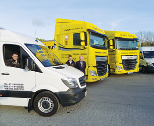 Stephen Mullen (right) and his sons, Keth and Gareth, are intent on keeping Sligo Haulage and Distribution a top transport operation.