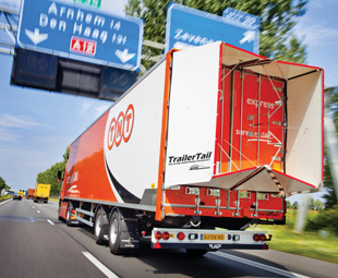 Above and left: Logistics providers, like TNT Express, are having to change their business models, and their fleets.