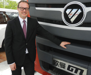 Stefan Albrecht, executive vice president of Beijing Foton Daimler Automotive, is pleased with the success of the joint venture.