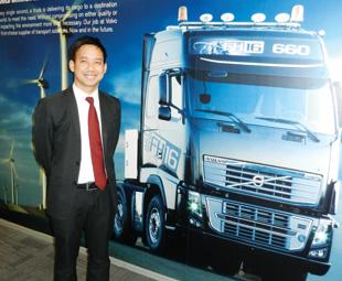 Kamlarp Sirikittiwatn, vice president vehicle sales and marketing (China sales) at Volvo, says some customers are appreciating the benefits of premium trucks.