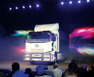 The first South African produced truck bursts onto the stage!