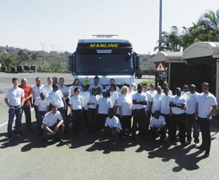 The Manline Mega team celebrates its RTMS accreditation. RTMS contributes to preserving road infrastructure, improves road safety, ensures driver health and well-being and improves productivity.