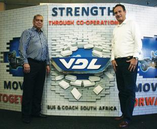 Sam Mansingh (left) and Jan-Cees Santema have built VDL Bus & Caoch SA into a respected company.