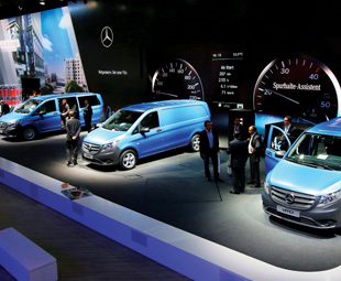 The focal point of the Mercedes-Benz Vans stand at the IAA was the public premiere of the Vito, which comes to South Africa next year.