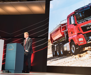 Anders Nielsen, chief executive officer of MAN Truck & Bus, is extremely proud of the company's newly developed D38 six-cylinder inline engine, which has a displacement of 15,2 litres.