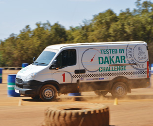 Iveco's limited edition Tested By Dakar kits are available on its 4x4 models.