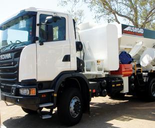 Scania had one of its Ausroad stemming trucks on display.