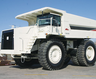 The rigid NHL dump truck – also launched by Ever Star Industries at the show.