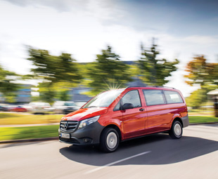 The Vito 116 CDI BlueEfficiency sips just 5,7 litres per 100 km.