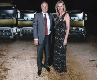 Bruno Blin, president of Renault Trucks, travelled to South Africa for the launch.