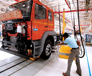 BharatBenz currently produces  1 200 units a month for the Indian market. It sold around 10 000 vehicles last year.