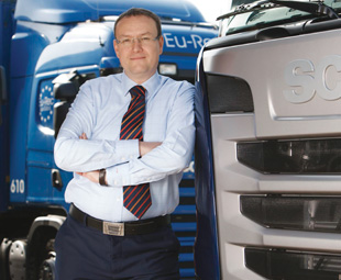 Petr Novotny, MD Scania Finance and Insurance, says that involvement with transport companies has allowed financial institutions a better understanding of operators' risks and rewards.
