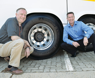 Randall Scheps (left) and John Jewiss are passionate about the savings Alcoa wheels can bring to operators.