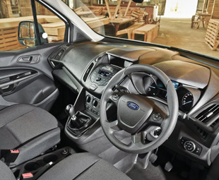 The versatile, car-like interior offers an array of configurations and storage bins.