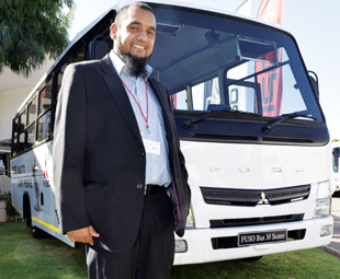 Ziyad Gaba, FUSO national sales manager, says it is important for the company to be present in the local bus market.