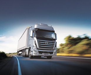 Hyundai's Xcient heavy duty truck range includes numerous axle configuration alternatives.