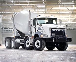 The Mack Granite handles vocational applications in the North American market.
