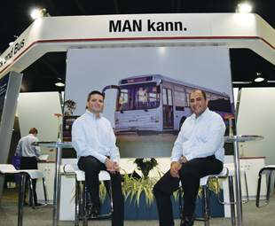 Tiago Dias (left) and Philip Kalil-Zackey are enthusiastic about the new MAN RR9, and positive about the local bus industry's future.