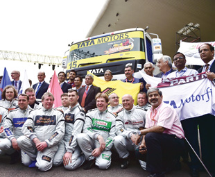 The drivers are currently all English; there's an Indian driver academy in the pipeline.