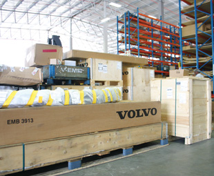 With three warehouses in one, Volvo Group Logistics Services has catalogued each item with meticulous detail.