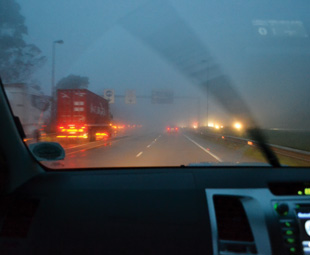 Poor visibility on the N3 doesn't stop motorists from speeding.