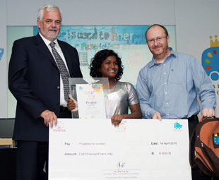 Priyanka Govender's Saviour Car won here the eight- to 11-year-old category.