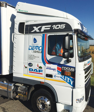 The DAF XF shows off Aero Truck's new Dolphin kit.