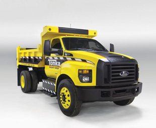 Ford's full-size Tonka Toy is intended to stir memories of boyhood backyard civil engineering.