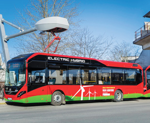 Volvo electric hybrids clean up Stockholm